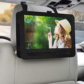 Car Headrest Mount Holder Strap Case for Swivel & Flip Style Portable DVD Player (9-9.5 inch)