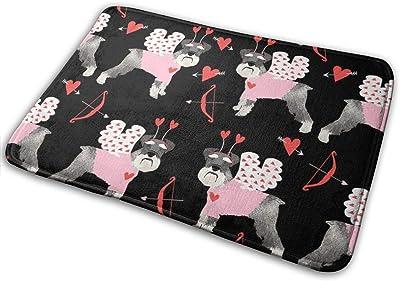 """Schnauzer Love Bug Dog Breed Black_17333 Doormat Entrance Mat Floor Mat Rug Indoor/Outdoor/Front Door/Bathroom Mats Rubber Non Slip 23.6"""" X 15.8"""""""