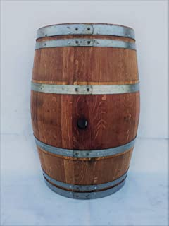 Real Half Wine Barrel Stand or Planter - Clean Oak (Stained)
