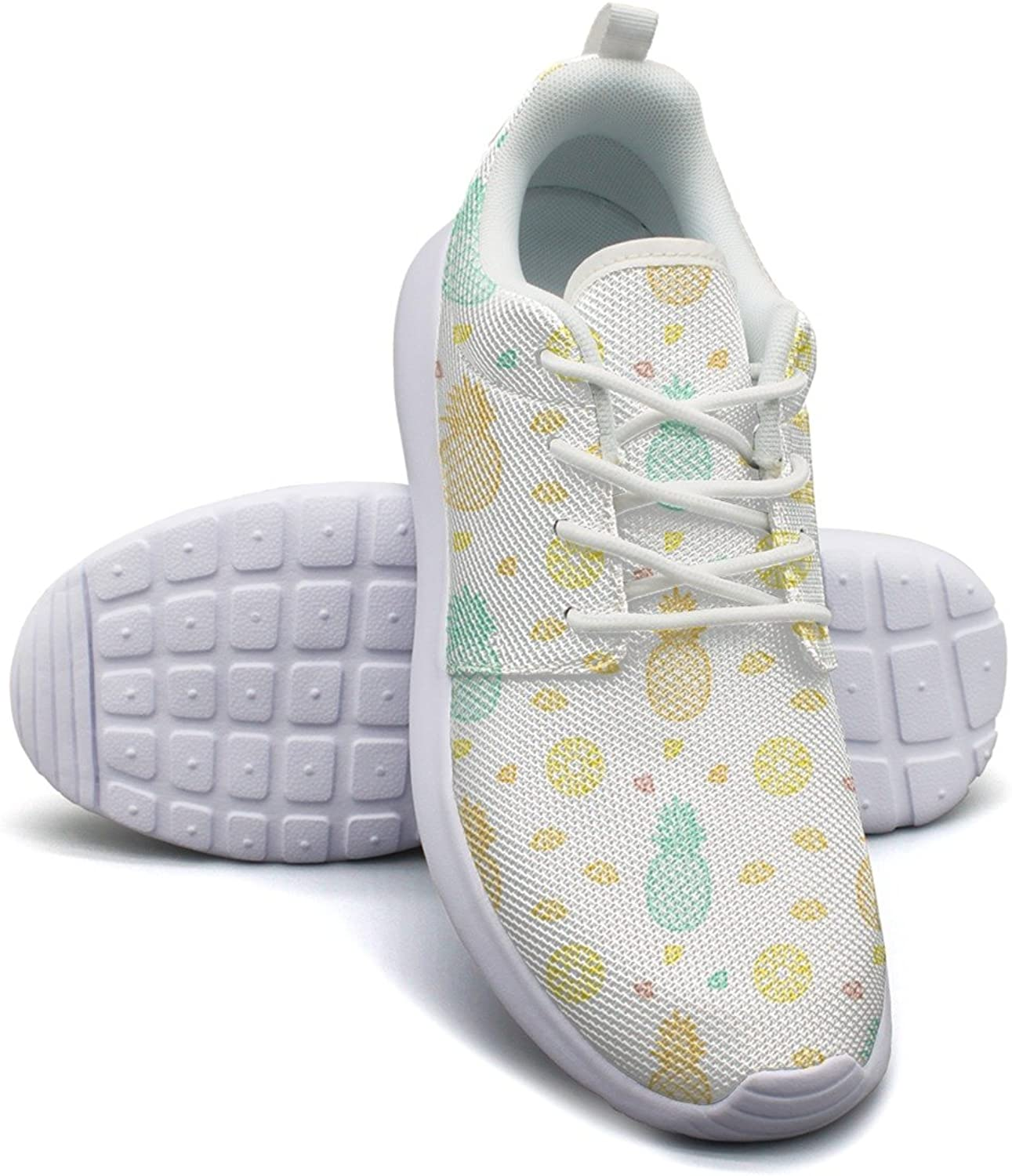 Pineapple Tropical Fruits Summer Women's Fashion Basketball shoes Vintage Mesh Lightweight Tennis Sneakers