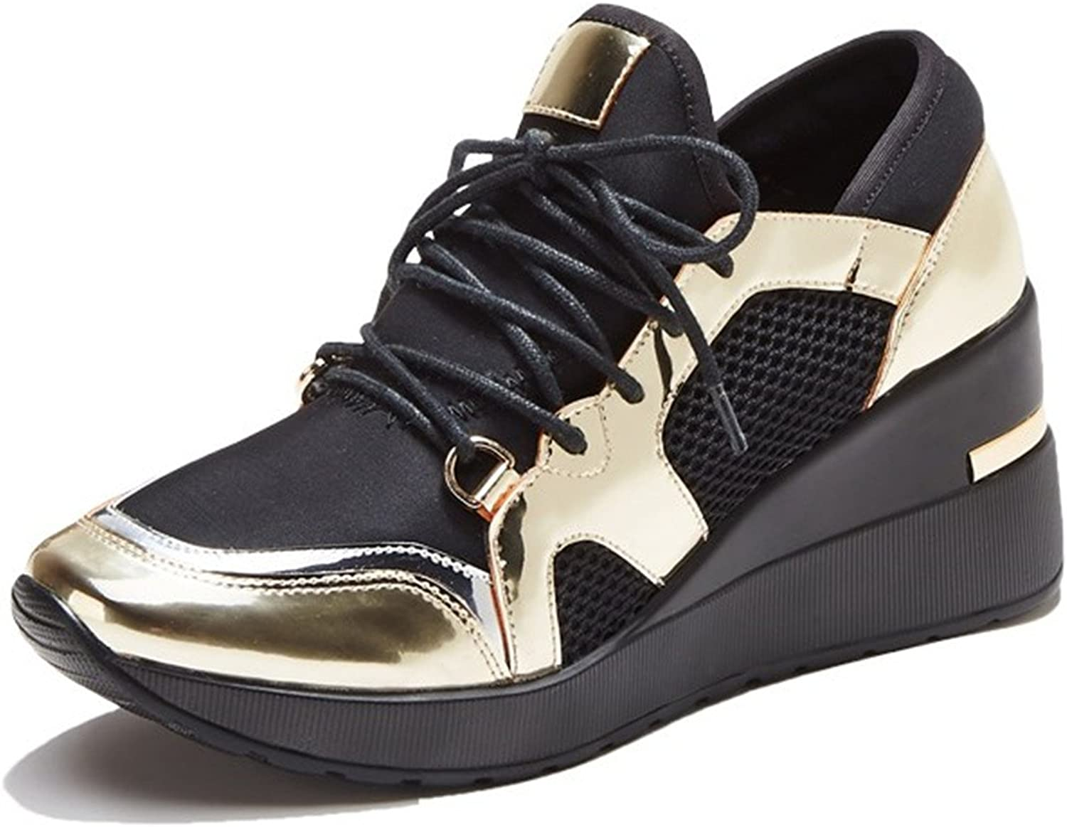 Nerefy 2018 Sneakers Women Fashion Lace-up Platform shoes for Women High Heels Casual shoes