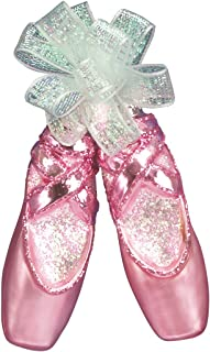 Old World Christmas Glass Blown Ornament with S-Hook and Gift Box, Clothing Collection (Pair of Ballet Slippers)