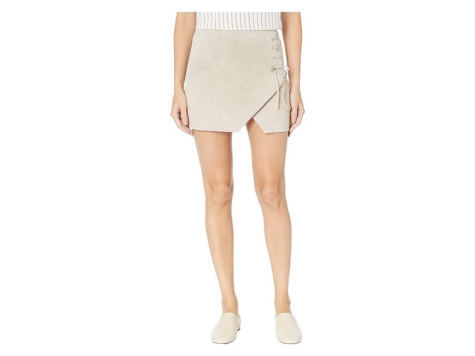 Blank NYC Suede Mini Skirt (Fawn) Women