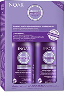 Kit Duo Shampoo e Condicionador Speed Blond Matizador, Inoar, 250ml