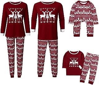 aihihe Family Christmas Pajamas Sets Long Sleeve Elk Print Shirts Pants Sets Soft Sleepwear Pjs Lounge Sets Casual Wear