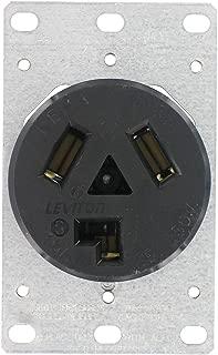 Leviton 800-05207-00K Dryer Receptacle 30 Amp 125/250V Flush Mount Black