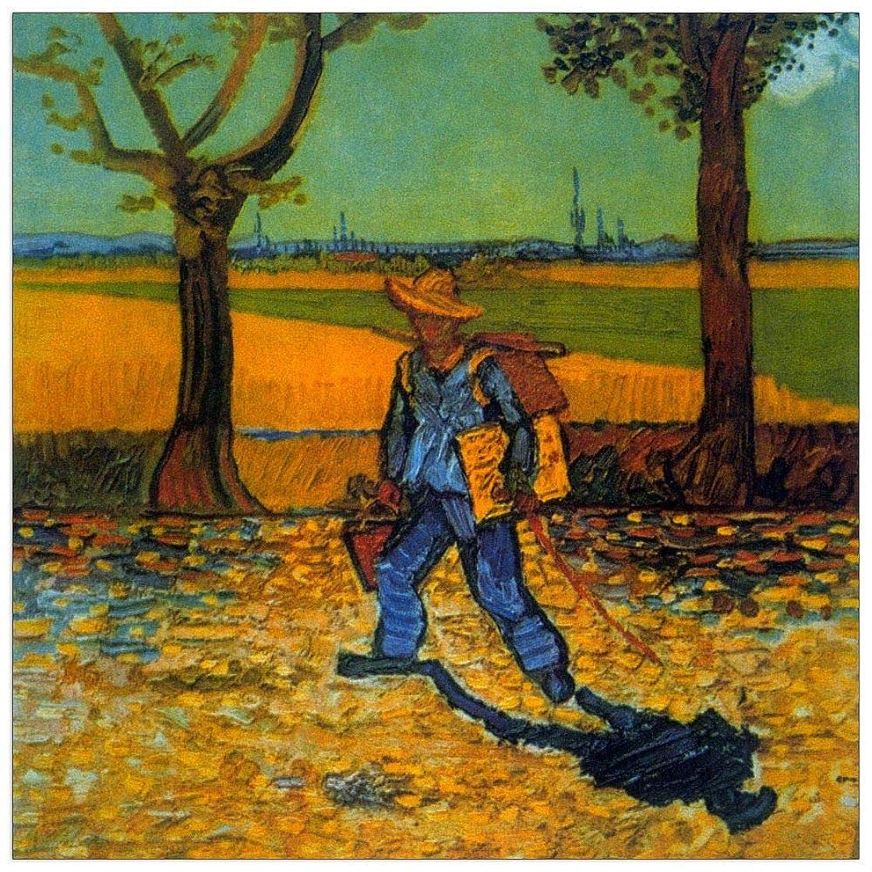 ArtPlaza TW90766 Van Gogh Vincent-Painter Decorative Panel, 15.5x15.5 Inch, Multicolored