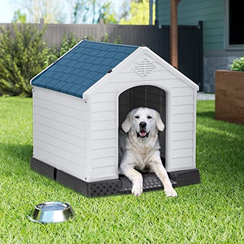popular Dog House, discount Extra Large Dog House with high quality Base Support Waterproof Ventilate Plastic Durable for Small Medium Large Dogs Outdoor Pet Shelter with Air Vents and Elevated Floor online