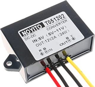 NOYITO DC to DC 12V 2A Converter Boost Module 5V-11V Boost to 12V 1A 2A Power Converter IP67 Waterproof with Overcurrent O...