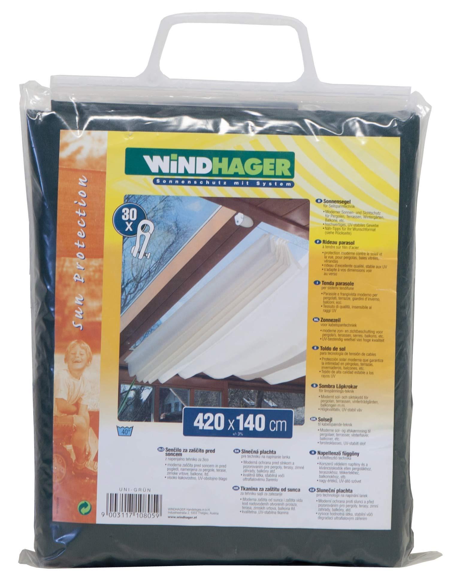 Windhager Toldo para Estructura corredera, Verde Puro, 420 x 140 cm: Amazon.es: Jardín