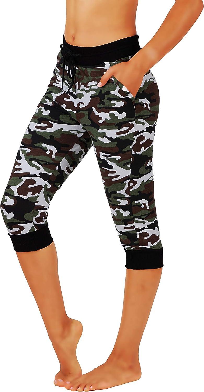 Fit Purchase Division Women Premium Camo Dealing full price reduction Blend Cotton Joggers Yoga Pants