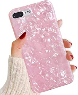 Funda iPhone 7 Plus Carcasa iPhone 8 Silicona Gel360 Grado Full Body Completa Cover Suave TPU Cubierta Caso Anti-Scratch Trasera para iPhone 7 (Bombilla de Carne Rosa iPhone 7 Plus/ 8 Plus)