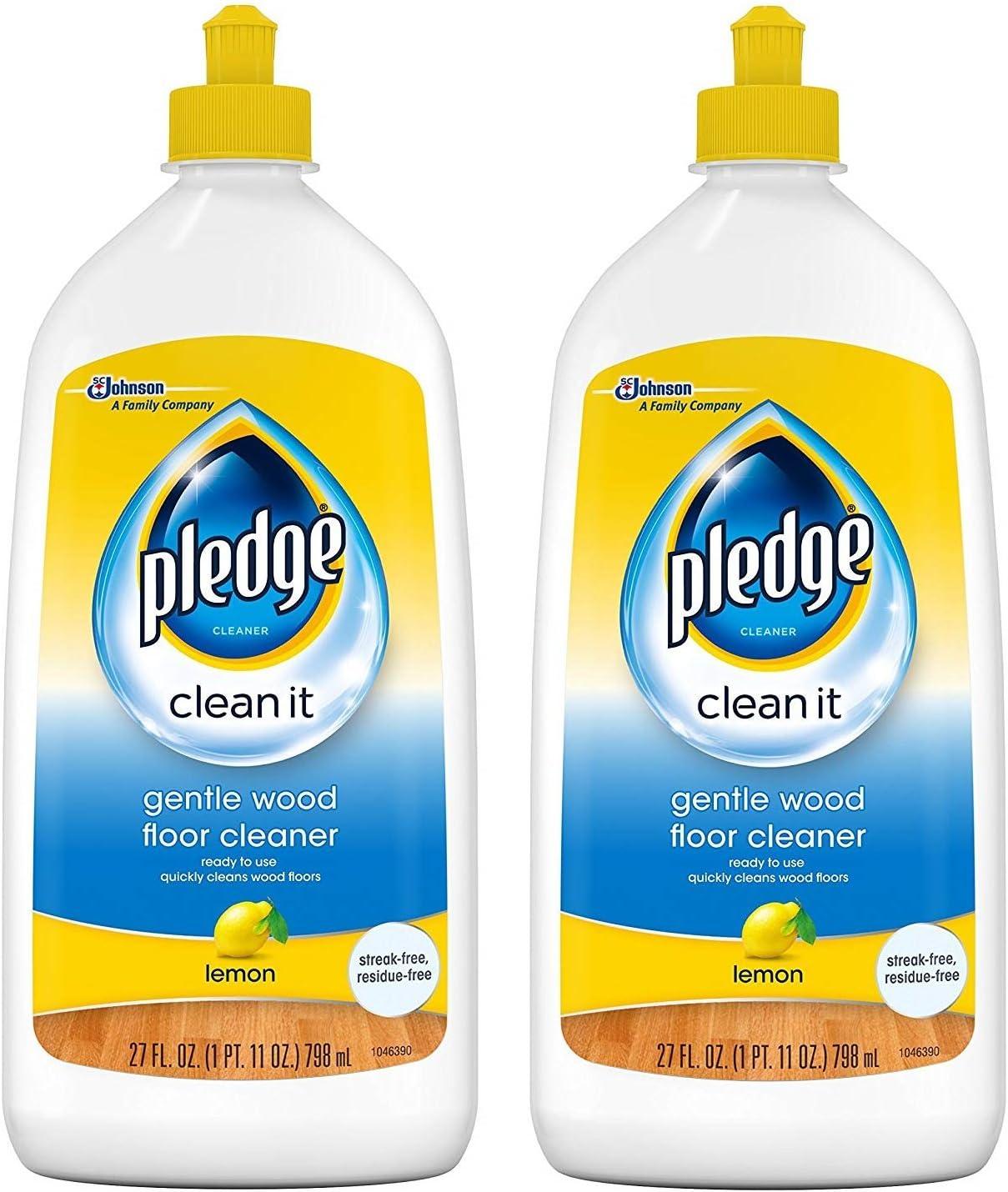 Pledge Gentle Wood Floor Cleaner Lemon 27 Quantity limited 2 Pack Ounces Scent Under blast sales