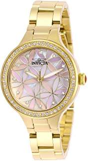 Invicta Women's Wildflower Quartz Stainless-Steel Strap, Gold, 14 Casual Watch (Model: 28822)