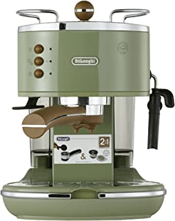 De'Longhi 德龙 Icona Vintage 复古早餐系列 泵压式半自动咖啡机 ECO310.VGR 橄榄绿色 1100W功率(海外自营)(国内官?#25605;?#20445;两年)(包邮包税)