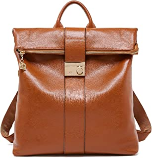 Genuine Leather Backpack Purse for Women Anti-theft Travel Shoulder Bag