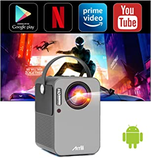 Artlii Play Smart Projector, Android TV 9.0 Portable Projector, WiFi Bluetooth Projector with...