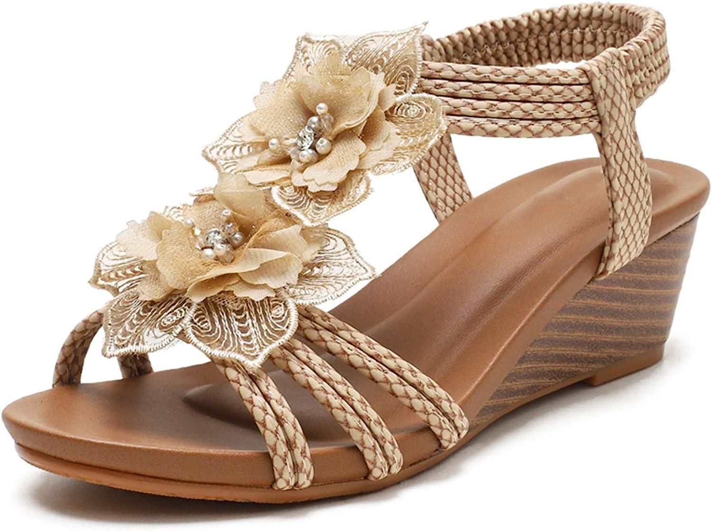 Saralris Wedge Limited price Sandals for Women Cutout Toe Rhines discount Heel Mid Peep