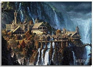 1000 pièces de puzzles classiques pour adultes Château de la vallée du Seigneur des anneaux Puzzle pour enfants 38x26cm je...