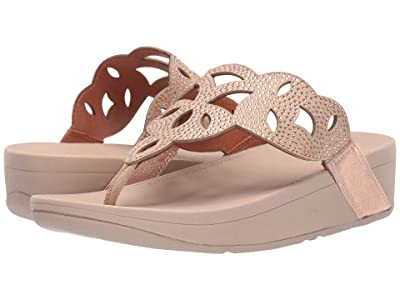 FitFlop Elora Crystal Toe Thong Sandal (Rose Gold) Women