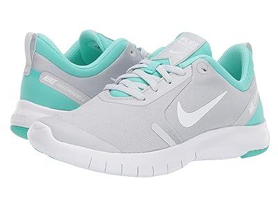Nike Kids Flex Experience RN 8 (Big Kid) (Pure Platinum/White/Hyper Turquoise/Wolf Grey) Girls Shoes