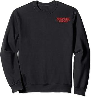 Netflix Stranger Things Solid Logo Left Chest Sweatshirt