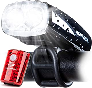 Cycle Torch Night Owl USB Rechargeable Bike Light Set, Perfect Commuter Safety Front and Back Bicycle Light LED Combo – Fr...