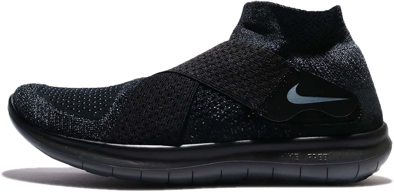 Nike Men's Free RN Motion Flyknit 2017 Running shoes Black Dark Grey-Anthracite-Volt 10.0
