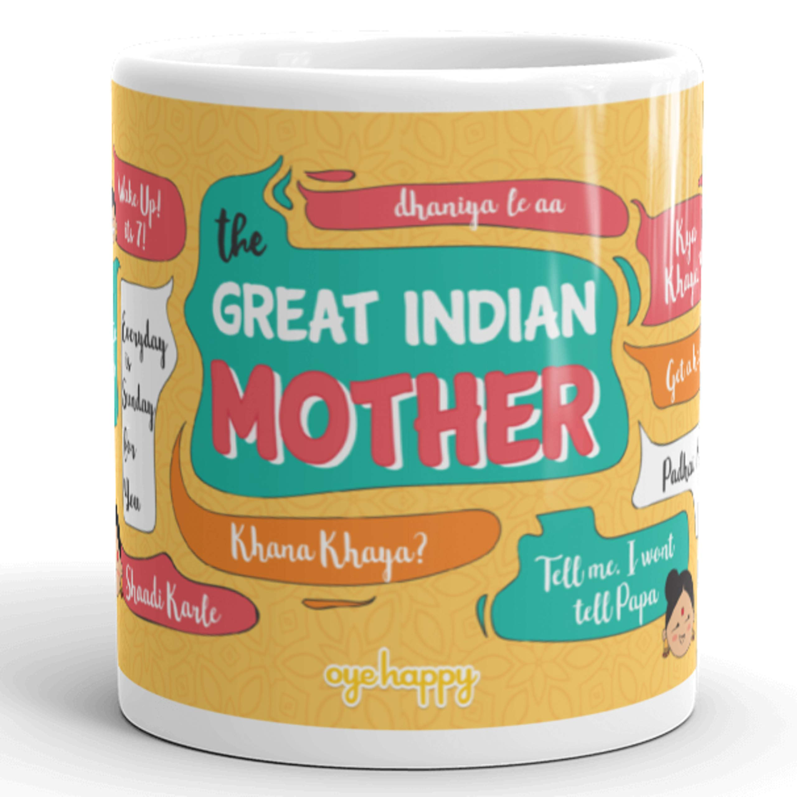 Oye Happy Ceramic Mug - Multicolour