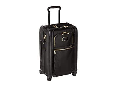 Tumi Alpha 3 International Dual Access 4 Wheeled Carry-On (Black/Gold) Luggage