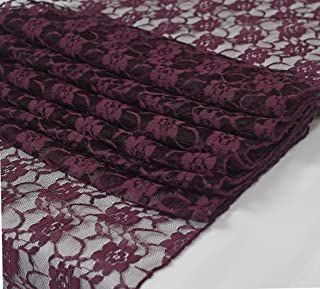 MDS Pack of 5 Yard Bridal SOLID Raschel Lace Fabric 55