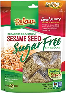Ajonjoli Sesame Seed Bars, Sugar Free (Sin Azucar), sweetened with Stevia, 5 oz [141 g]