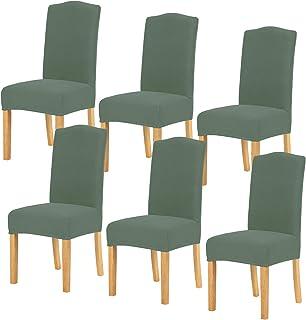 TIANSHU Fundas para sillas 6 Piezas,Poliéster Elástica Fundas sillas Duradera Modern Bouquet de la Boda Hotel Decor Restau...