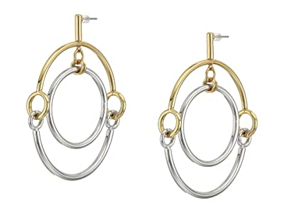 Rebecca Minkoff Interlocking Ring Orbit Earrings (Gold/Rhodium 1) Earring