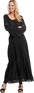 Women's Plus Size Lace Trim Long Skirt