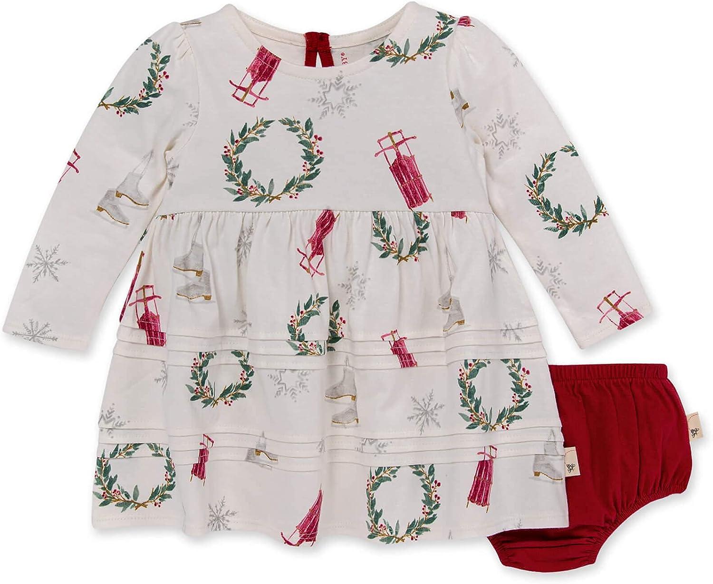 Burt's Bees Baby baby-girls Dress, Infant & Toddler, Short & Long-sleeve, 100% Organic Cotton