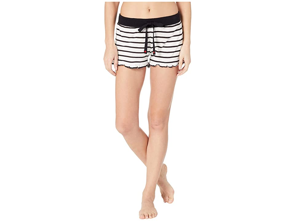 P.J. Salvage True Love Stripe Shorts (Ivory) Women
