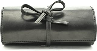 Tony Perotti Italian Cow Leather Premium Combination Jewelry Roll with Tie Closure