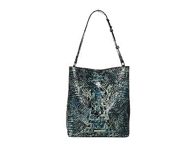Brahmin Melbourne Large Amelia Bucket Bag (Glacier) Handbags