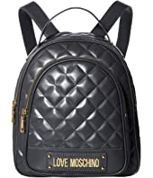 LOVE Moschino - Shinny Quilted Backpack