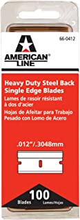 American Safety Razor 66-0412 Heavy-Duty Single Edge Razor Blades, 100-Pack
