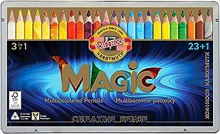 Lápis de Cor Koh-I-Noor Magic 23 cores + 1 Blender Caixa De Metal