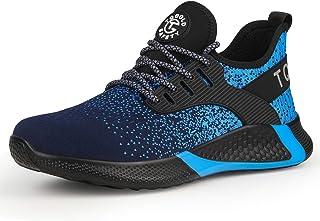 TQGOLD Chaussure de Securité Homme Femmes S3 Chaussures de Travai avec Embout Légères Respirant et Antidérapant