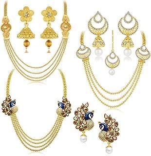 Sukkhi Jewellery Sets for Women (Golden) (457CB2700)