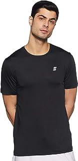 Amazon Brand - Symactive Men's Solid Regular Fit Half Sleeve Sports T-Shirt