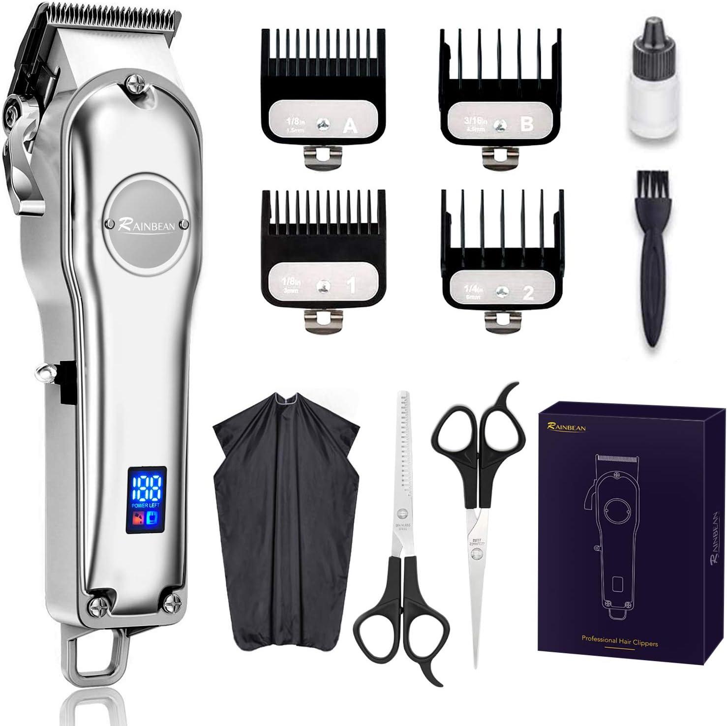 RAINBEAN Men Hair Trimmer 3 in Beard Waterproof IPX7 G 1 Omaha Mall online shopping