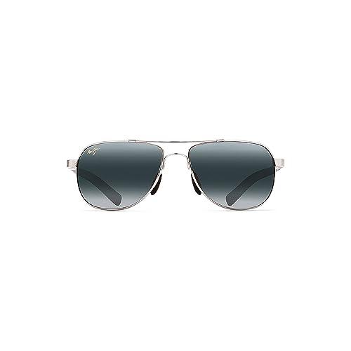 8185ff68784f Maui Jim Mens Guardrails Sunglasses (327) Memory Metal