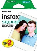 Fujifilm Instax Square Instant Film - 20 Exposures - for use with The Fujifilm instax Square Instant Camera with ElectronicsClub Microfiber Cloth
