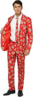 Ugly Christmas Suits for Men in Different Prints – Xmas Sweater Costumes Include Jacket Pants & Tie