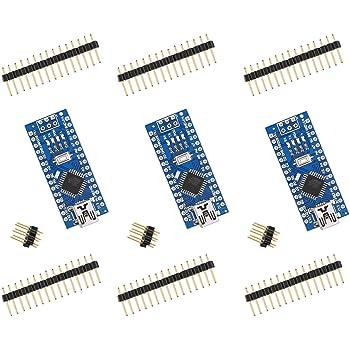 ELEGOO For Arduino Nano V3.0, Nano board CH340/ATmega328P, compatible with Arduino Nano V3.0 (pack of 3) …